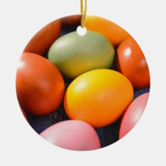 Ornamento De Cerâmica Ovos da páscoa coloridos