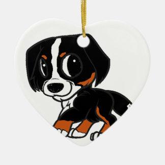 Ornamento De Cerâmica oxidação dos desenhos animados do cão de montanha