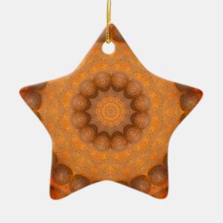 Ornamento De Cerâmica Oxidação-Mandala, cores de Rust_744_3.2