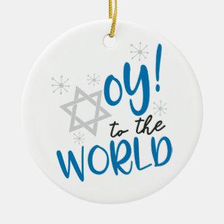 Ornamento De Cerâmica Oy ao mundo