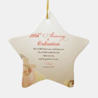 Ornamento De Cerâmica Padre, 50th aniversário da bênção da classificação