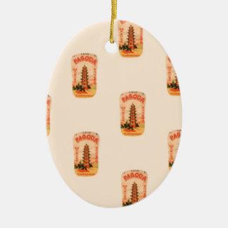 Ornamento De Cerâmica Pagode do pêssego