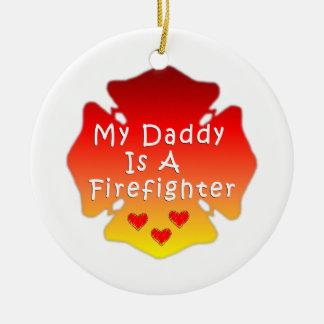 Ornamento De Cerâmica Pai do sapador-bombeiro