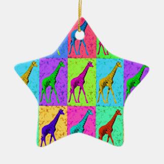 Ornamento De Cerâmica Painéis de passeio do girafa do pop art