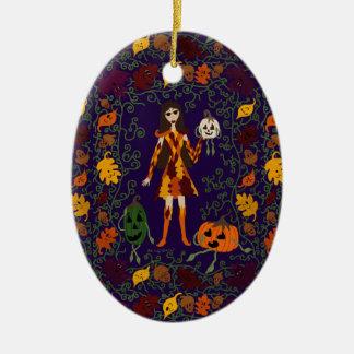 Ornamento De Cerâmica País das fadas do outono