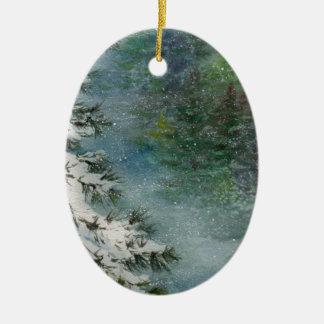 Ornamento De Cerâmica País das maravilhas do inverno