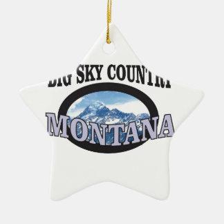 Ornamento De Cerâmica país grande Montana do céu