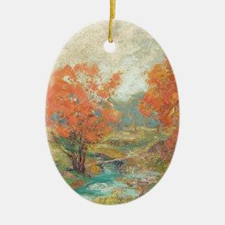 Ornamento De Cerâmica Paisagem da queda - Midwest, EUA