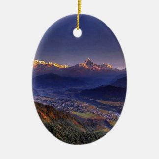 Ornamento De Cerâmica Paisagem da vista: HIMALAYA POKHARA NEPAL