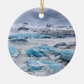 Ornamento De Cerâmica Paisagem do gelo da geleira, Islândia
