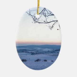 Ornamento De Cerâmica Paisagem do inverno em Alemanha na manhã