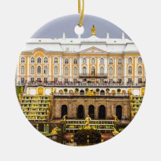 Ornamento De Cerâmica Palácio de Peterhof e jardins St Petersburg Rússia