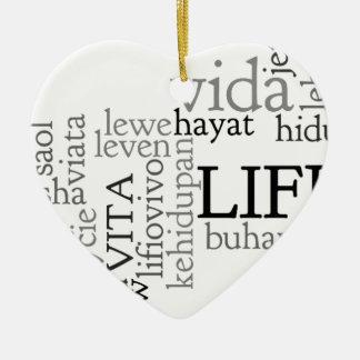 Ornamento De Cerâmica Palavras da vida