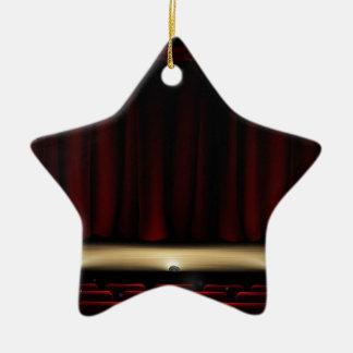 Ornamento De Cerâmica Palco do teatro com cortinas do teatro