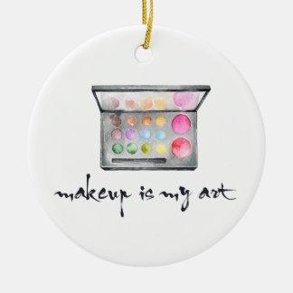 """Ornamento De Cerâmica Paleta do maquilhador - a """"composição é citações"""