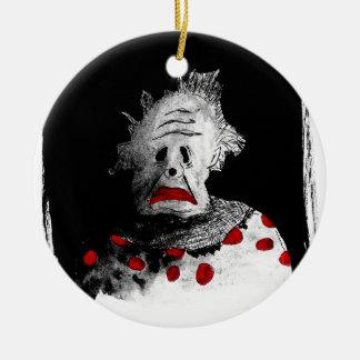 Ornamento De Cerâmica Palhaço assustador