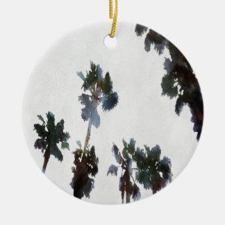 Ornamento De Cerâmica Palmas tropicais