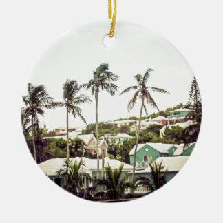 Ornamento De Cerâmica Palmeiras em Bermuda