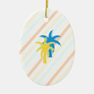 Ornamento De Cerâmica palmeiras tropicais
