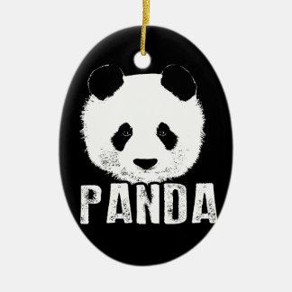 Ornamento De Cerâmica Panda