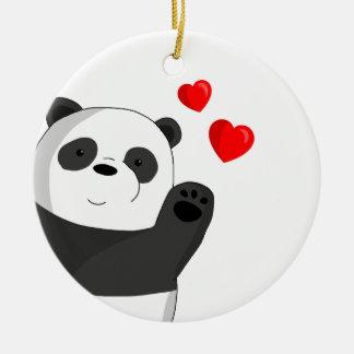 Ornamento De Cerâmica Panda bonito