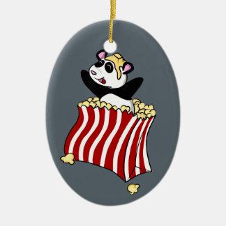 Ornamento De Cerâmica Panda da pipoca!