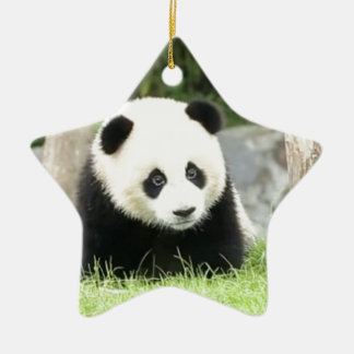 Ornamento De Cerâmica Panda do bebê