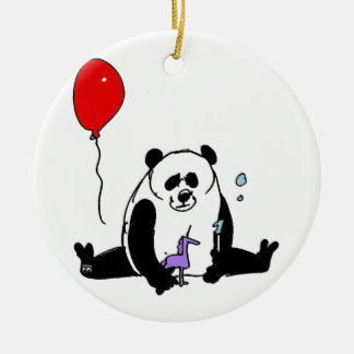 Ornamento De Cerâmica Panda try unicorn and Inmerstab soapbubble toy