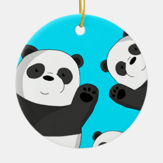Ornamento De Cerâmica Pandas bonitos