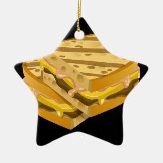 Ornamento De Cerâmica Panini óbvio da comida do pulso aleatório