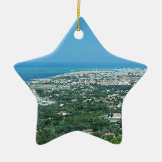 Ornamento De Cerâmica Panorama aéreo espectacular da cidade de Livorno,