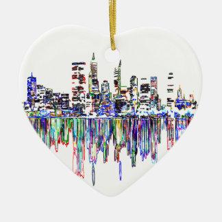 Ornamento De Cerâmica Panorama da cidade