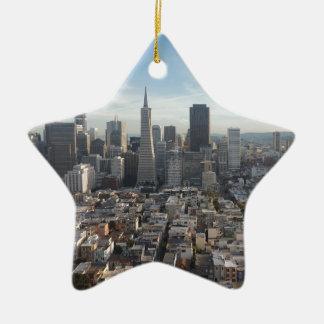Ornamento De Cerâmica Panorama da skyline de San Francisco