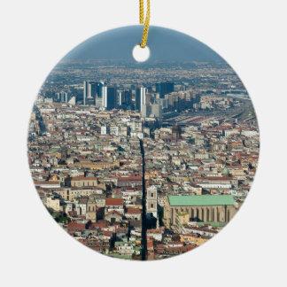 Ornamento De Cerâmica Panorama de Nápoles