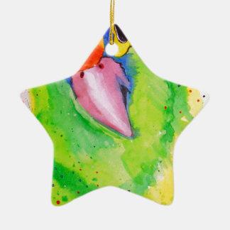 Ornamento De Cerâmica Papagaio