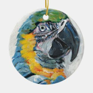 Ornamento De Cerâmica Papagaio azul