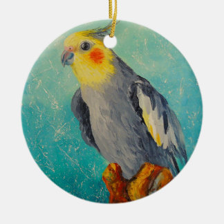 Ornamento De Cerâmica Papagaio de Corella