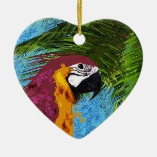 Ornamento De Cerâmica Papagaio do Ara