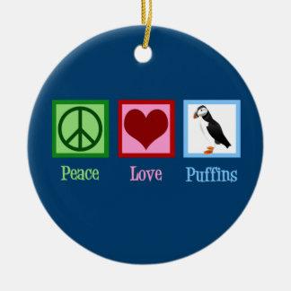 Ornamento De Cerâmica Papagaio-do-mar do amor da paz