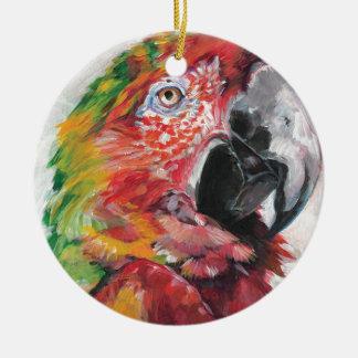 Ornamento De Cerâmica Papagaio vermelho