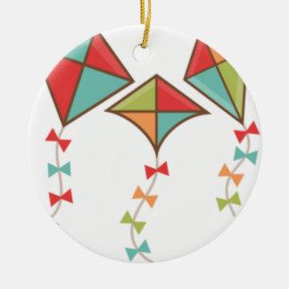 Ornamento De Cerâmica Papagaios coloridos