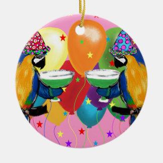Ornamento De Cerâmica Papagaios do partido