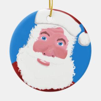 Ornamento De Cerâmica Papai Noel