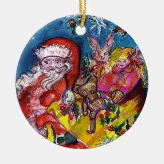 Ornamento De Cerâmica PAPAI NOEL COM Natal dos PRESENTES E dos