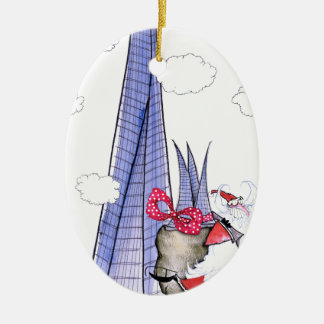 Ornamento De Cerâmica Papai noel do Xmas de ShardArt por Tony Fernandes