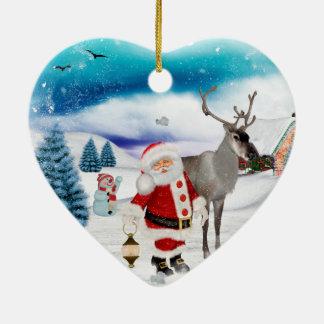 Ornamento De Cerâmica Papai Noel engraçado
