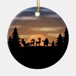 Ornamento De Cerâmica Papai Noel perdeu