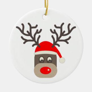 Ornamento De Cerâmica Papai noel Rudolf