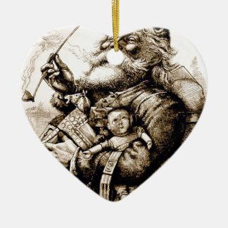 Ornamento De Cerâmica Papai noel velho alegre