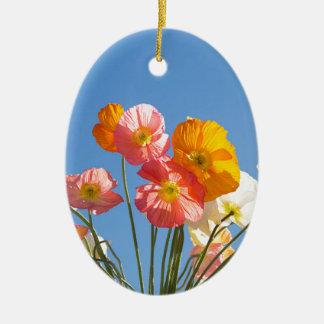 Ornamento De Cerâmica Papoilas
